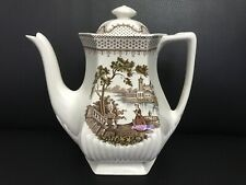 Antique Rare! English Itonstone Wm Adams & Sons Antoinette Large Teapot