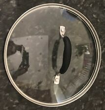 "9""  Cuisinart Glass & Stainless CLEAR LID Cool Touch Handle Frypan Sauté Pan Pot"