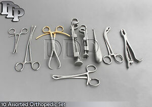 10 Assorted Orthopedic Surgical Instruments Custom Made Set,SR-532