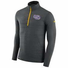 Nike Louisiana State Tigers Dry 1/4 Zip Performance Top Anthracite New Medium