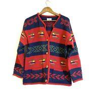 Bolivian Handknits Lambswool Aztec Southwestern Bohemian Oversized Sweater Large