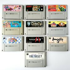 Super Famicom Games Lot Of 10 Kirby Mario Tactics Ogre Romancing Saga ***READ***