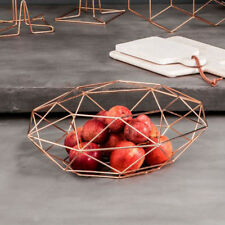 Vertex Fruit Basket Copper Bowl Bread Storage Modern Kitchen Display Holder New