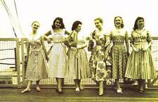 Postcard Nostalgia July 1956 Eastbourne Fashion Summer Dresses Reproduction Card