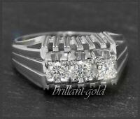 Diamant Ring aus 585 Weißgold mit 0,40ct Brillanten, 14 Karat Gold Bandring