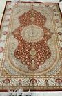 """100% Pure Rare Silk on Silk rug 625 KPSI 4'2""""x6'8"""" signed Excellent Conditions"""