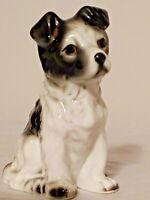 Vintage China Border Collie Figurine Japanese Porcelain Puppy Dog Statue