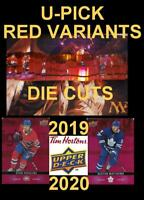 2019-20 UD TIM HORTONS 🍁🍁 DIE CUT - RED VARIANT 🍁🍁U-Pick🍁 Complete Your Set