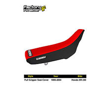 1996-2004 HONDA XR 250 R Black/Red FULL GRIPPER SEAT COVER BY Enjoy MFG