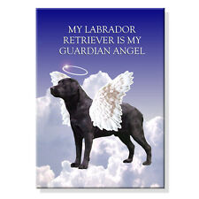 BLACK LABRADOR Guardian Angel FRIDGE MAGNET New DOG