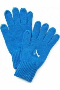 Puma Fundamentals Knit Blue Mens Boys Gloves 040738 06