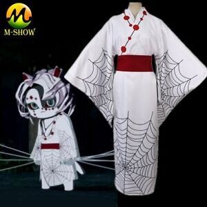 Anime Demon Slayer Spider Mother Rui Cosplay Costume Kimono Uniform for Adult