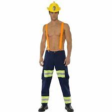 Fever Firefighter Fireman Uniform Braces Mens Sexy Adult Fancy Dress Costume