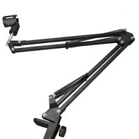 Mic Microphone Suspension Boom Scissor Arm Stand Holder for Studio Broadcast GN