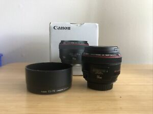 Canon EF 50mm f/1.2 L USM Lens - EXCELLENT CONDITION