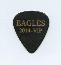 Eagles 2014 Vip - Official Guitar Pick - Black / Gold Letters - Blank Back