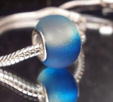 Edler Glas Bead Element Matt Skyblue für Armband 0452