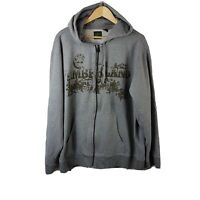Timberland Mens Hoodie XL Extra Large Hooded Grey Sweatshirt Zip Up Oversized