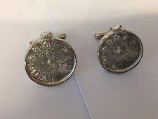 Vieille montre de poche TG379 Boutons de manchette en anglais moderne étain