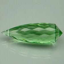 Gladsome!!! 22.7ct. Apple Green Amethyst Briolette Drilled