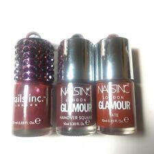 3 Nails Inc Dark red nail Polishes varnish