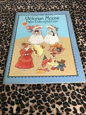 Victorian Mouse Paper Dolls Book in Full Color Uncut Crystal Collins Sterling