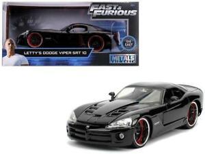 1:24 Jada Fast & Furious Letty's Dodge Viper SRT 10 Black #30731 Diecast Model
