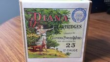 Empty Reproduction Of Diana Cartridges Shell Shotgun Box Ammo w/ Hunting Dog