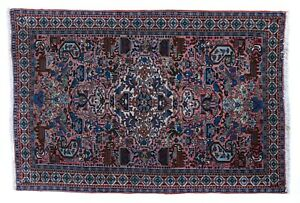 Tappeto Ardebil Persiano fondo seta 200x136 certificato di provenienza