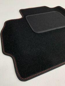 Fußmatten für Mazda 5 CR Premium Velours Automatten ab Bj05-10 Naht Rot 4 Teilig