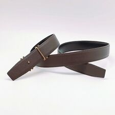 Handmade 32mm Reversible Brown Leather belt size 90,95,100,105 Free Shipping