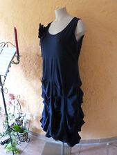 BORIS INDUSTRIES RAFF Damen Kleid 44 46 (4) NEU blau LAGENLOOK A-Form Blume