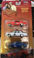 Joy Ride Dukes of Hazzard General Lee 1969 Dodge Charger 1:64 3 car set Mustang