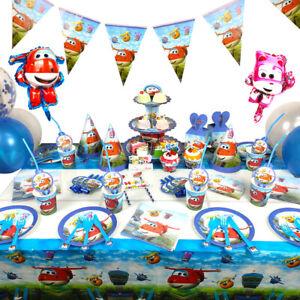 Super Wings Party-Geschirr Kinder-Geburtstag Tischdeko Party Set 10 Person
