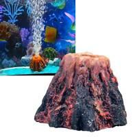 Decoro decorazione ornamento acquariologia acquario VULCANO bolle ossigeno