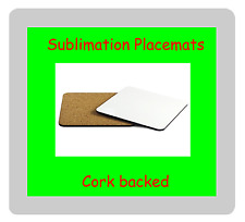12 x MDF Blank Sublimation Placemats 32cm x 23cm cork backed