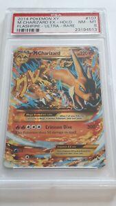 Pokemen 2014 XY Flashfire M Charizard Ex Holo Ultra Rare #107 PSA8 NM-MT