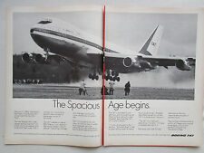 3/1969 PUB BOEING 747 AIRLINER FIRST FLIGHT AIRLINES COMMERCIAL AVIATION AD