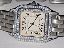Womens Cartier Panther Midsize Diamonds Everywhere