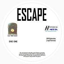 ESCAPE - 229 Shows Old Time Radio In MP3 Format OTR On 3 CDs