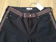 "Isabel Marant Charcoal Grey Jeans Skinny Stretch  FR42 UK14 L35"" Tall Long Leg"