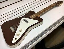 1964 Danelectro Vintage Pro 1 Electric Guitar w/Bag Brown Sparkle Masonite Vinyl