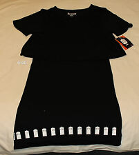 Doctor Who Ladies Black Tardis Boarder Printed Smock Dress Size L New
