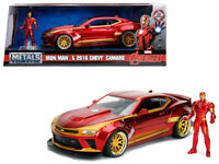 Marvel IRON MAN 2016 Chevy Camaro Die-cast 1:24 Jada Toys 8 inch with Figurine
