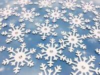 snowflake Xmas christmas table confetti decoration card embellishment craft