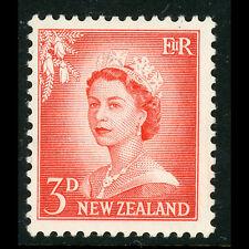 NEW ZEALAND 1955-59 3d Vermillion. SG 748. Mint Never Hinged. (BH367)
