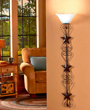 Star Wall Lamp with Remote Country Rustic Nearly 4 FT Tall Wall Sconce Art