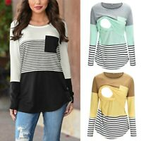 Women's Side Ruched Maternity Scoopneck T Shirt Top Pregnancy Blouse Clothes