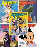 Lot Of 5 ANIMERCA Magazine VOLUME 3 #5, 6, 7, 8,10 1995 Anime Manga Near Mint