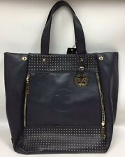 VERSACE Beckett Studded Tote Bag, Midnight